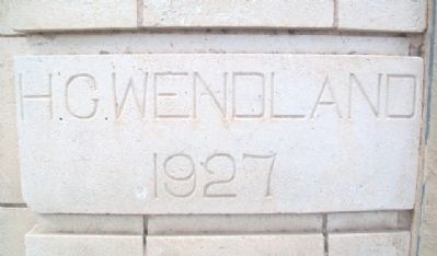H. C. Wendland Building Date Stone image. Click for full size.