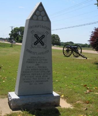 Freeman's Battery Monument (Front) image. Click for full size.