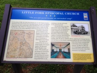Little Fork Episcopal Church Marker image. Click for full size.