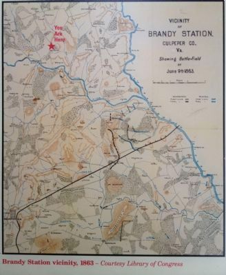 Map: Brandy Station vicinity, 1863 image. Click for full size.