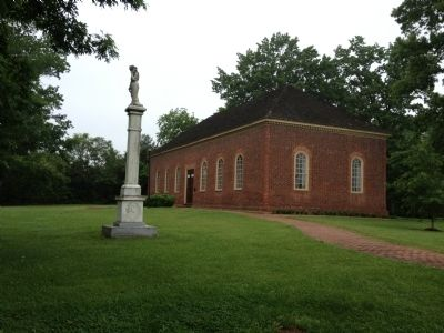 Little Fork Episcopal Church with Ranger Memorial image. Click for full size.