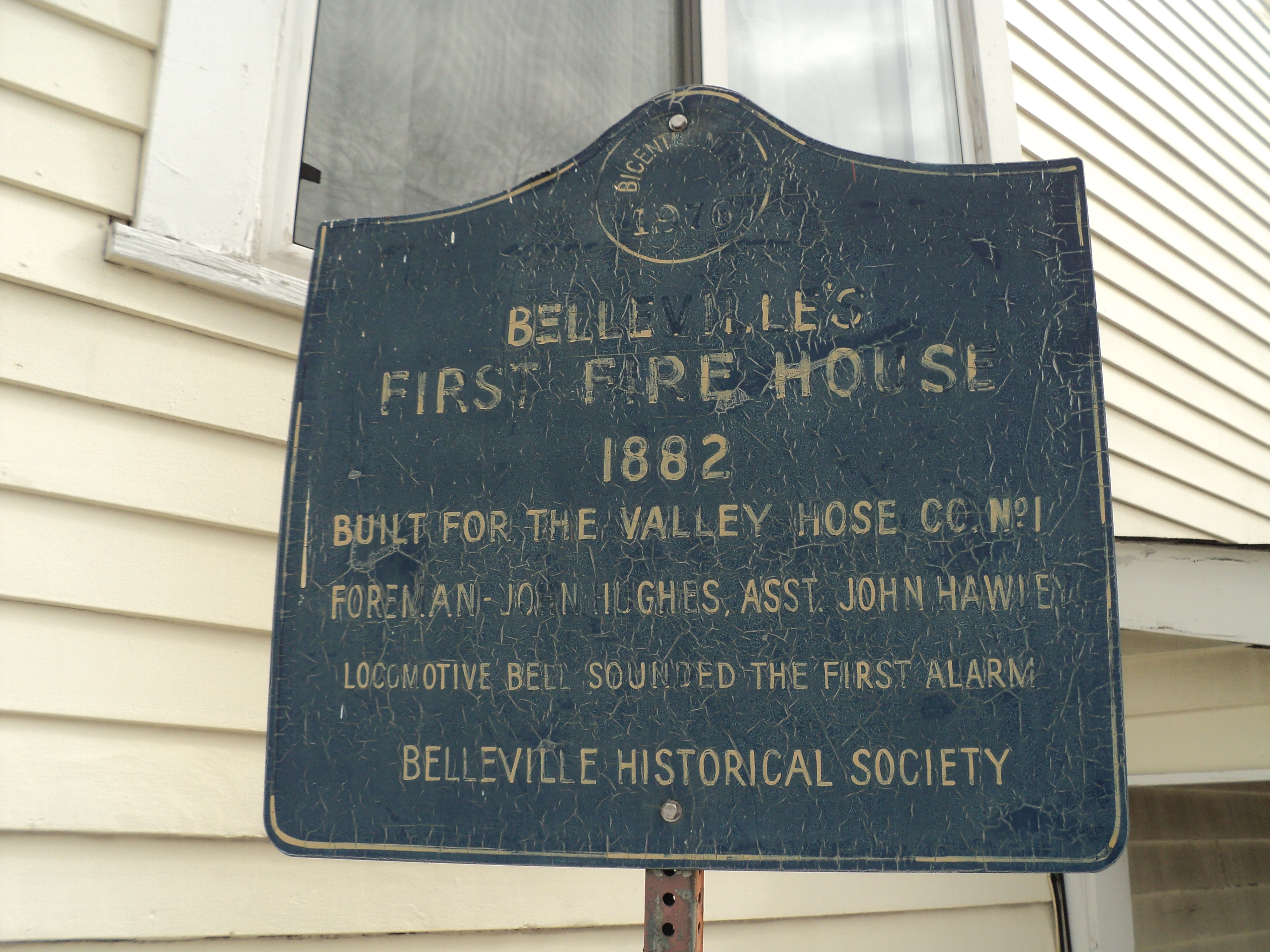 Belleville First Fire House Marker