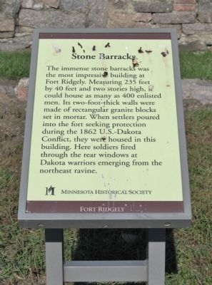 Stone Barracks Marker image. Click for full size.