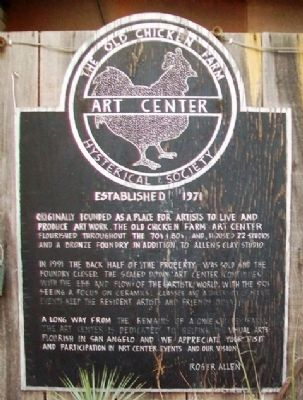 The Old Chicken Farm Art Center Marker image. Click for full size.