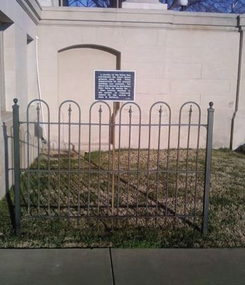 Courthouse and Poor Farm Fence Marker image. Click for full size.