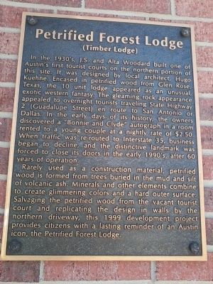 Petrified Forest Lodge Marker image. Click for full size.