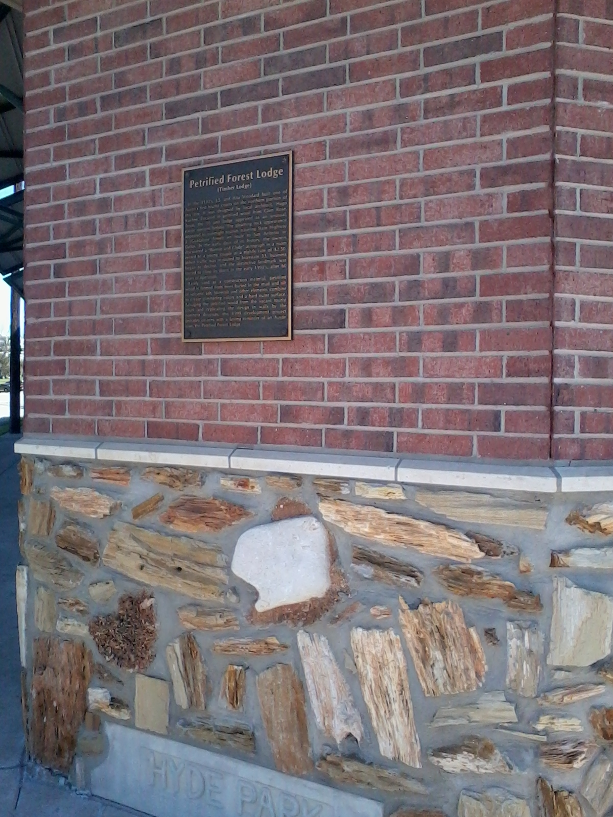 Petrified Forest Lodge Marker