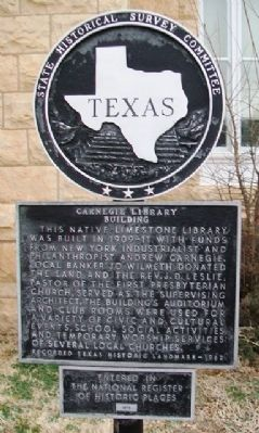 Carnegie Library Building Marker image. Click for full size.