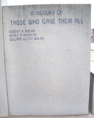 Runnels County Veterans Memorial Roll of Honored Dead image. Click for full size.