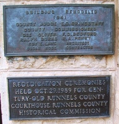 Runnels County Courthouse Rededication Markers image. Click for full size.