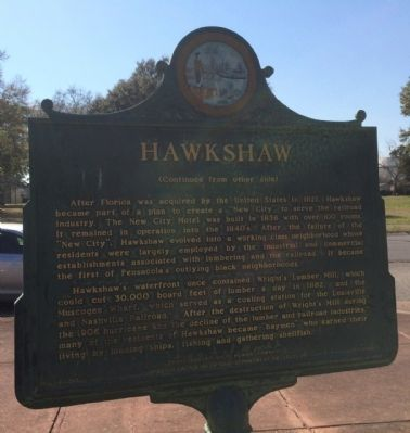 Hawkshaw Marker (reverse) image. Click for full size.