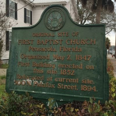 Original Site of First Baptist Church Marker image. Click for full size.