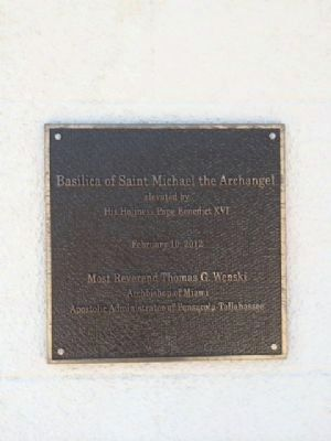 St. Michael's Church plaque image. Click for full size.