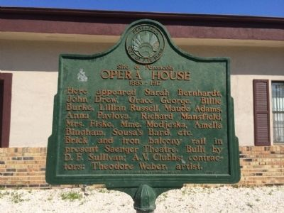Site of Pensacola Opera House Marker image. Click for full size.