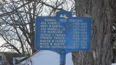 Randall Road Cemetery Marker image. Click for full size.