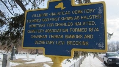 Fillmore-Halstead Cemetery Marker image. Click for full size.