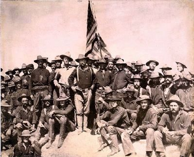 Theodore Roosevelt & the Rough Riders image. Click for full size.