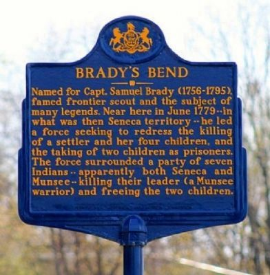 Brady's Bend Marker image. Click for full size.