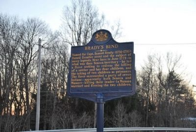Brady's Bend Marker - Roadside image. Click for full size.