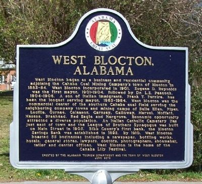 West Blocton, Alabama Marker image. Click for full size.
