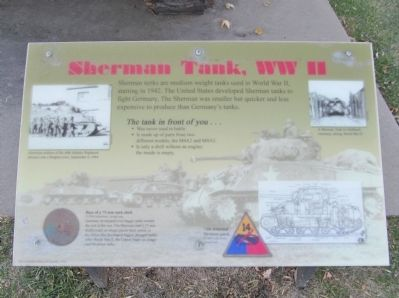Sherman Tank, WW II image. Click for full size.