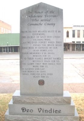 Confederate Veterans Monument (Side B) image. Click for full size.