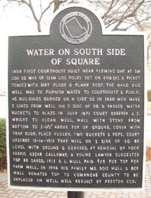 Water on South Side of Square Marker image. Click for full size.