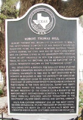 Robert Thomas Hill Marker image. Click for full size.