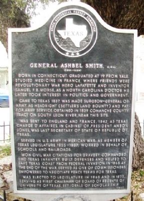 General Ashbel Smith, C.S.A. Marker image. Click for full size.