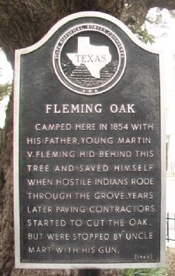 Fleming Oak Marker image. Click for full size.
