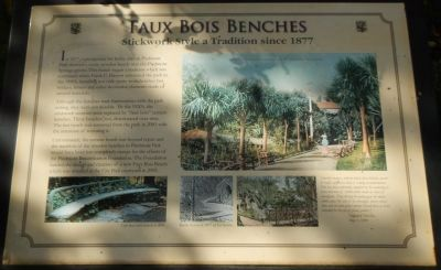 Faux Bois Benches Marker image. Click for full size.