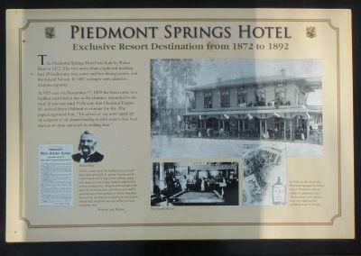 Piedmont Springs Hotel Marker image. Click for full size.