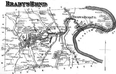 Brady's Bend Map image. Click for full size.