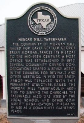 Morgan Mill Tabernacle Marker image. Click for full size.
