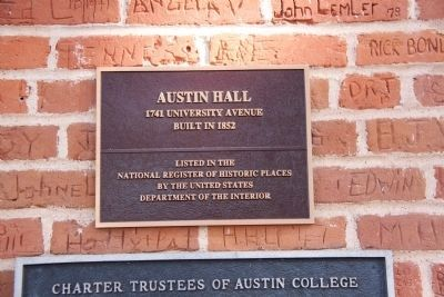 Austin College Building Marker image, Touch for more information
