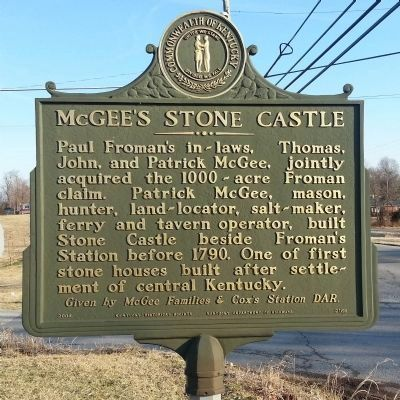 McGee's Stone Castle Marker image. Click for full size.