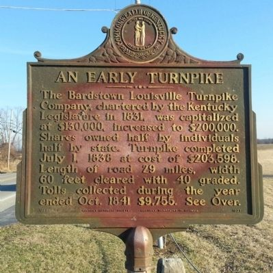 An Early Turnpike Marker image. Click for full size.