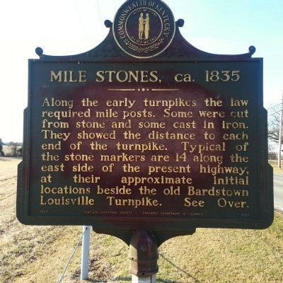 Mile Stones, ca. 1835 Marker image. Click for full size.
