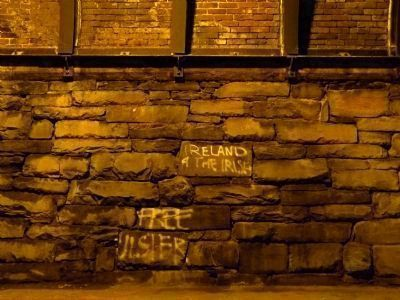 "Irish Nationalist Graffitti:<br>""Ireland 4 the Irish""<br>""Free Ulster"" image. Click for full size."