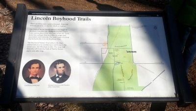 Lincoln Boyhood Trails Marker image. Click for full size.