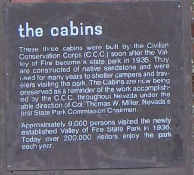 The Cabins Marker image. Click for full size.