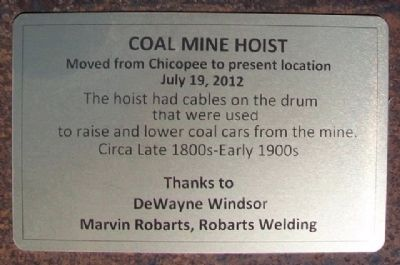 Coal Mine Hoist Marker image. Click for full size.