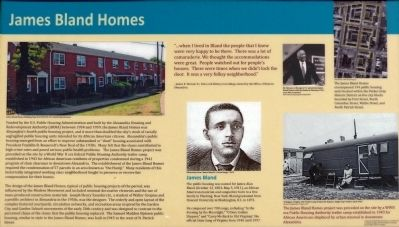 James Bland Homes Marker image. Click for full size.