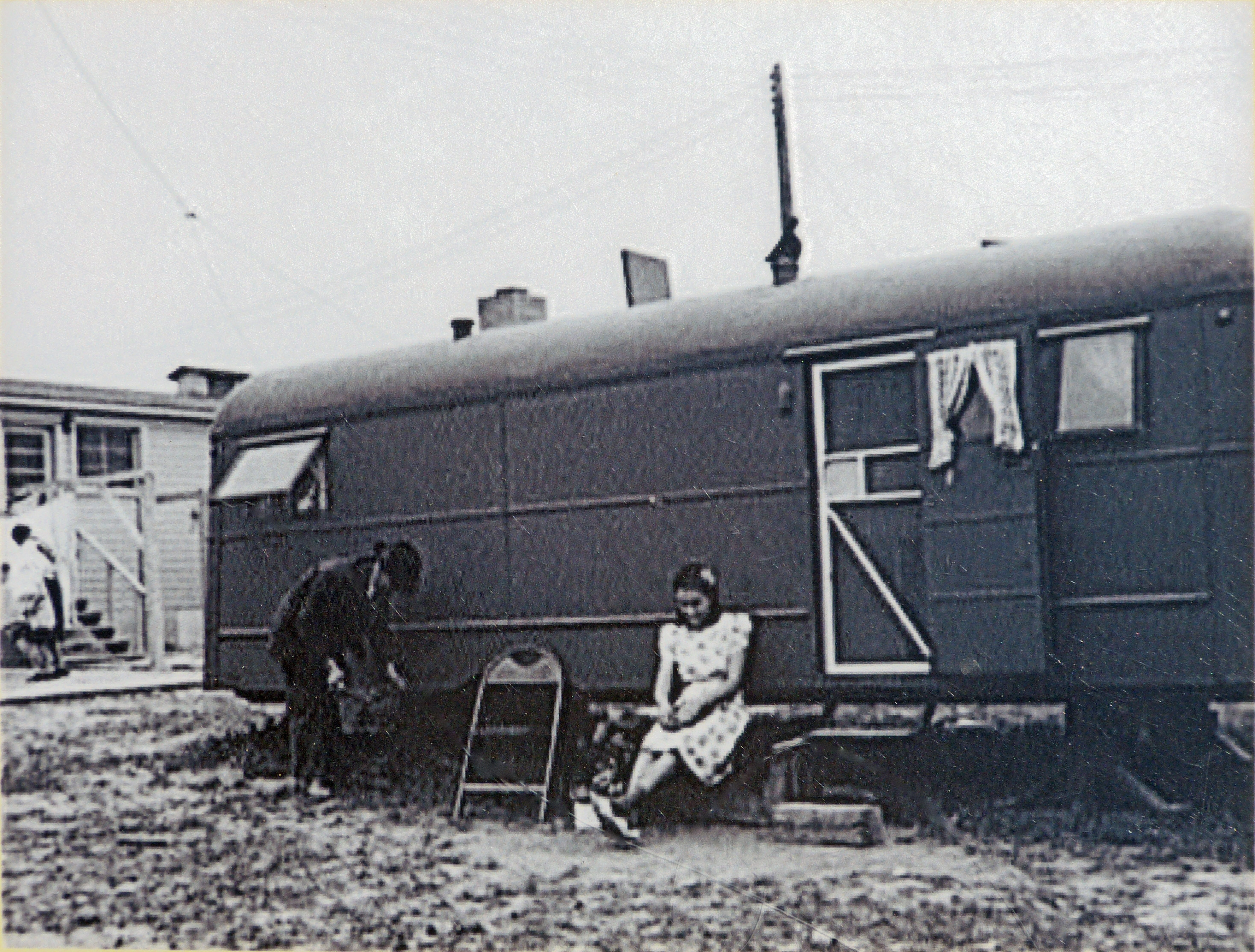 Arlington Virginia,<br> FSA Trailer Camp Project for Negroes,<br>Single Type Trailer; April 1942