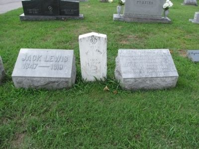 grave markers for Joseph and Jack Lewis image. Click for full size.