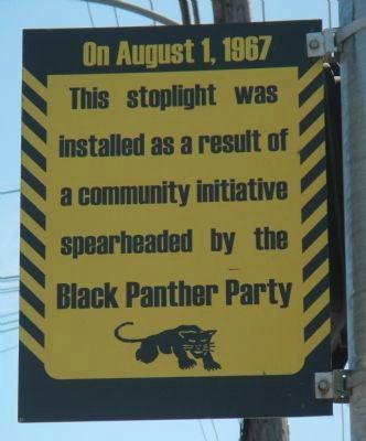 Black Panther Stoplight Marker, Side 1 image. Click for full size.