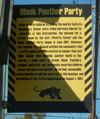 Black Panther Stoplight Marker, Side 2 image. Click for full size.