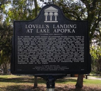 Lovell's Landing at Lake Apopka Marker image. Click for full size.