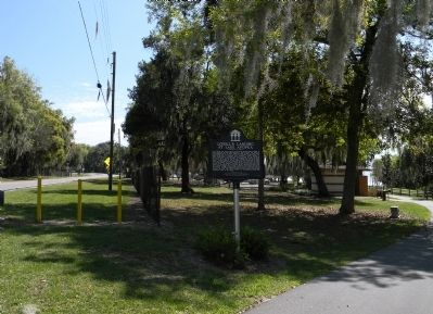 Wide view of the Lovell's Landing at Lake Apopka Marker image. Click for full size.