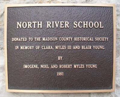 North River Schoolhouse Donor Marker image. Click for full size.